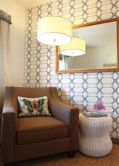 Transitional Family Room by Rachel Winokur Interiors
