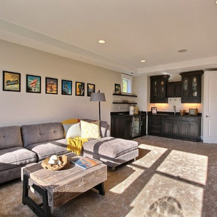 Family/Theater Room - The Aerius - Two Story Modern American Craftsman