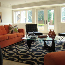 Contemporary Family Room by Terry Koks