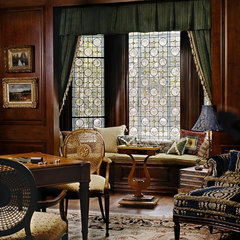 traditional family room by Just Joh