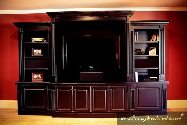 Traditional Family Room by Fancy Woodworks