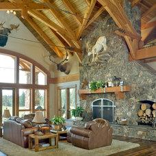 Traditional Family Room by Alan Mascord Design Associates Inc