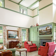 traditional family room by Rosewood Custom Cabinetry & Millwork