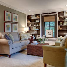Transitional Family Room by Wall to Wall Home Concepts, LLC