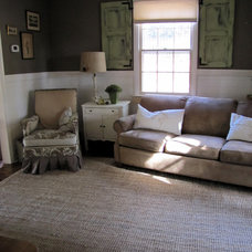 Farmhouse Family Room by The Painted Home