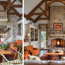 Farmhouse Family Room by DiFiore & Partners