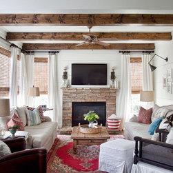 Farmhouse Window Treatments Home Design, Photos & Decor Ideas in