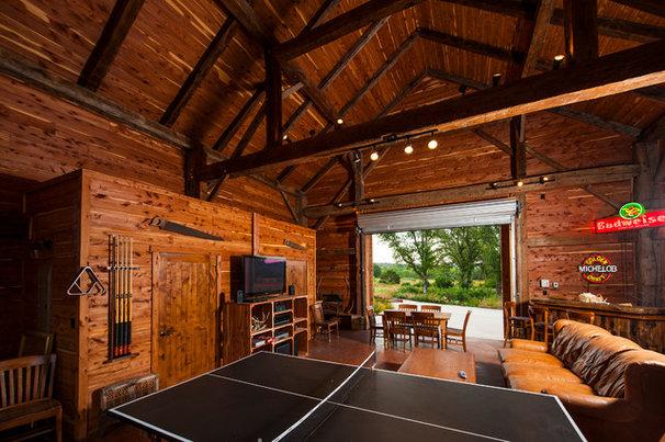 Farmhouse Family Room by HeritageBarns.com
