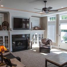 Farmhouse Family Room by McCloud & Associates, LLC