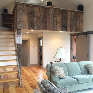 Farmhouse Style Family Room & Loft