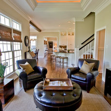 Traditional Family Room by 3wiredesigns