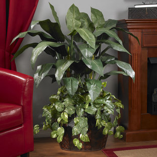 Faux Double Bird of Paradise Indoor Plant for Traditional Family Room