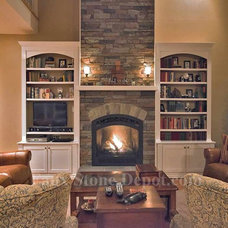 Contemporary Family Room by Faux Stone Depot