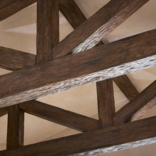 Faux Wood Beams & Trusses - Rustic - Family & Games Room
