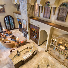 Mediterranean Family Room by Patrick Berrios Designs