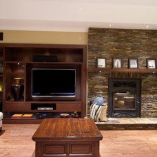 Modern Family Room by Artisan Wood Designs