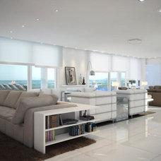 Modern Family Room by Carolina Fernandes