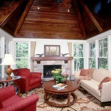 Traditional Family Room by Martha O'Hara Interiors