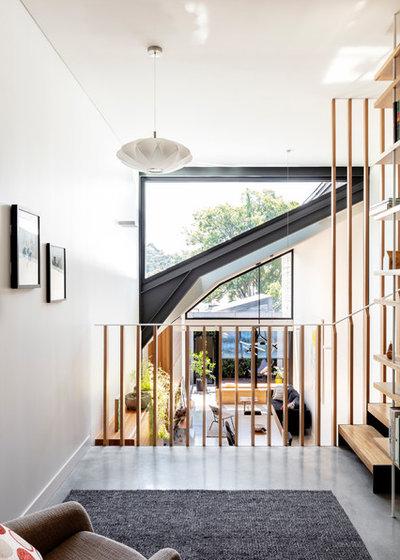 コンテンポラリー ファミリールーム by anderson architecture