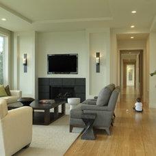 Contemporary Family Room by Fibercations, LLC