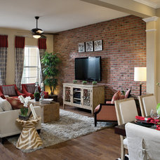 Eclectic Family Room by David Weekley Homes