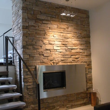Contemporary Family Room by Another Dimension Custom Stainless Inc