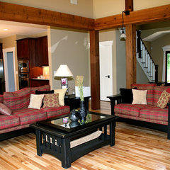 traditional family room by Green Apple Design