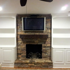 Traditional Family Room by Daxxa Contracting, LLC