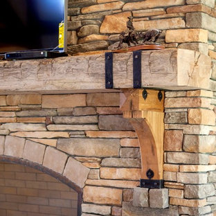 Fireplace mantels and brackets