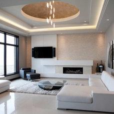 Contemporary Family Room by Dekko Concrete Decor