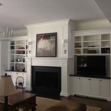 Traditional Family Room by Heard Woodworking & Custom Cabintry, LLC.