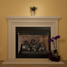 Family Room by SoCal Fireplace Mantels