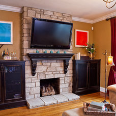 Traditional Family Room by Karr Bick Kitchen and Bath
