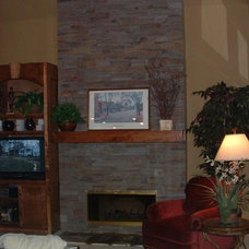 Traditional Family Room by ARNOLD Masonry and Landscape