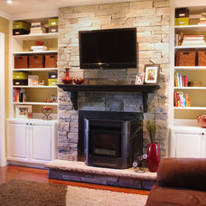 Eclectic Family Room by Rylex Custom Cabinetry and Closets