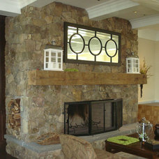 Traditional Family Room by Buechel Stone Corp