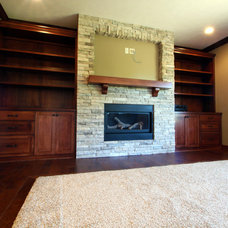 Traditional Family Room by Ironwood Builders