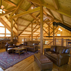 Traditional Family Room by South County Post & Beam, Inc.