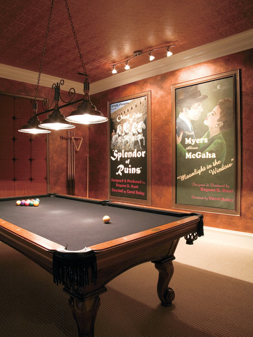 Best pool table room design ideas remodel pictures houzz for Pool room design uk