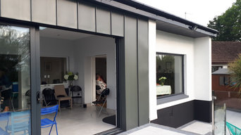 Flat roof with zinc cladding to create a light filled contemporary living room