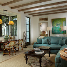 Mediterranean Family Room by David Neff, Architect