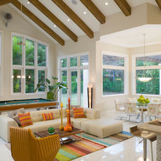Contemporary Family Room by Hollub Homes