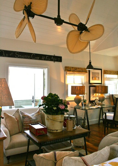 9 ways to bring home a little british colonial style beach style family room by kelley company home mozeypictures Images