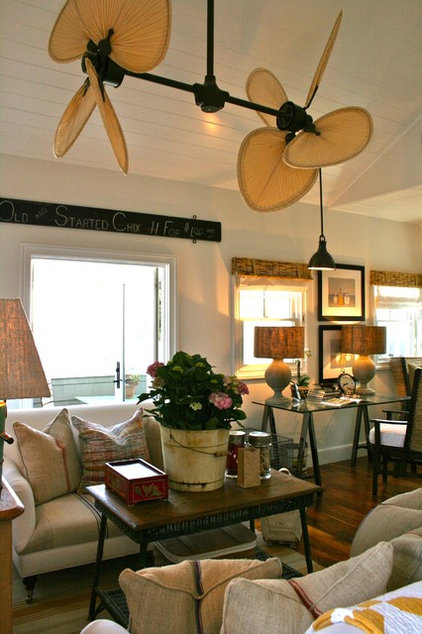 Beach Style Family Room by Kelley & Company Home