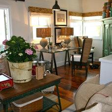 Beach Style Family Room by Kelley & Company Home