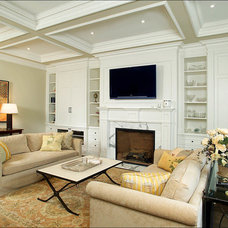 Traditional Family Room by Arnal Photography