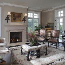 Traditional Family Room by RLH Studio
