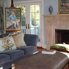 Eclectic Family Room by Susan Hanlon-Knies