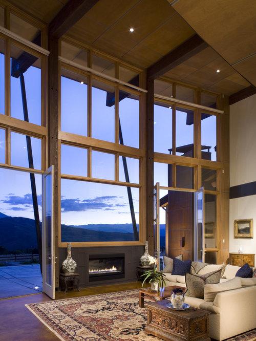 Fireplace Under Window | Houzz