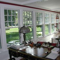 Mediterranean Family Room by The Churchill Company  MA